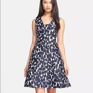 Kate Spade Blue and Black Cheetah Dress